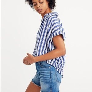 Madewell Tops - Madewell Central Shirt in blue stripes